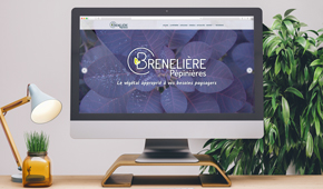 Nouveau site web pour la Pépinière Brenelière