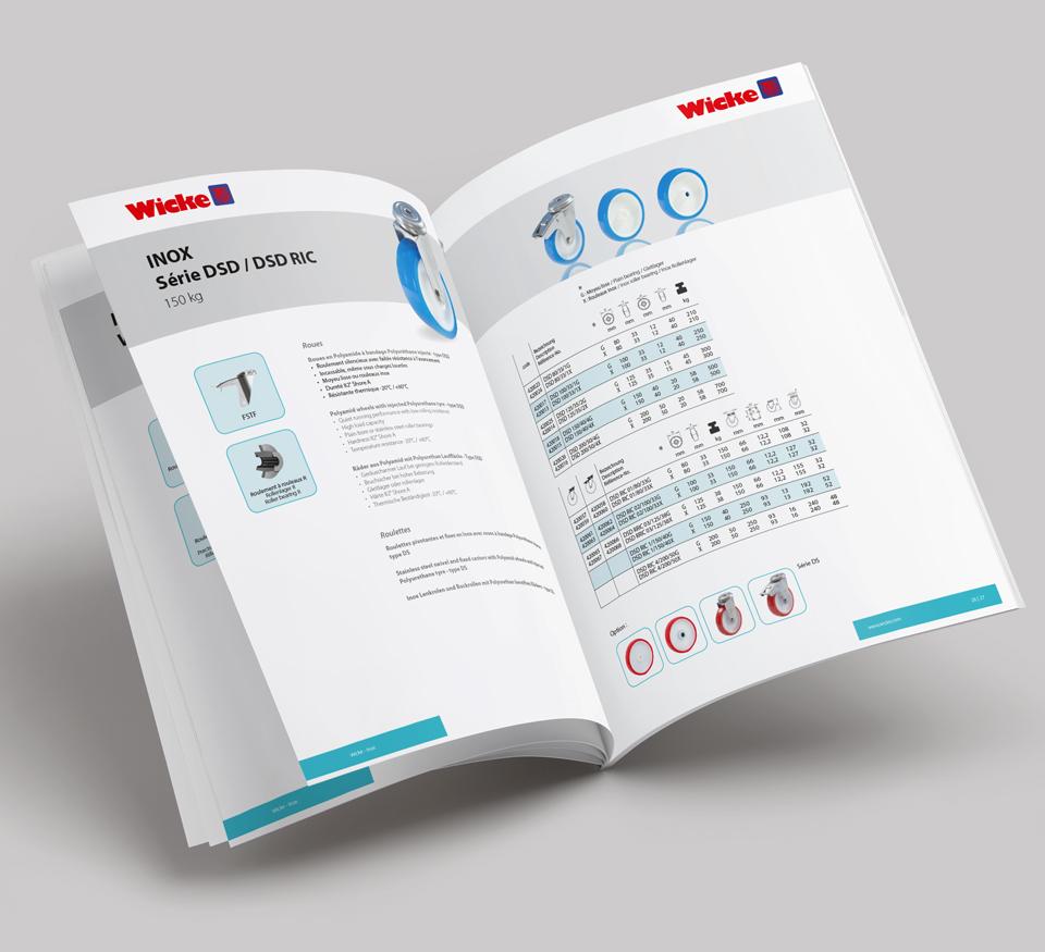 catalogue mise en page - wicke