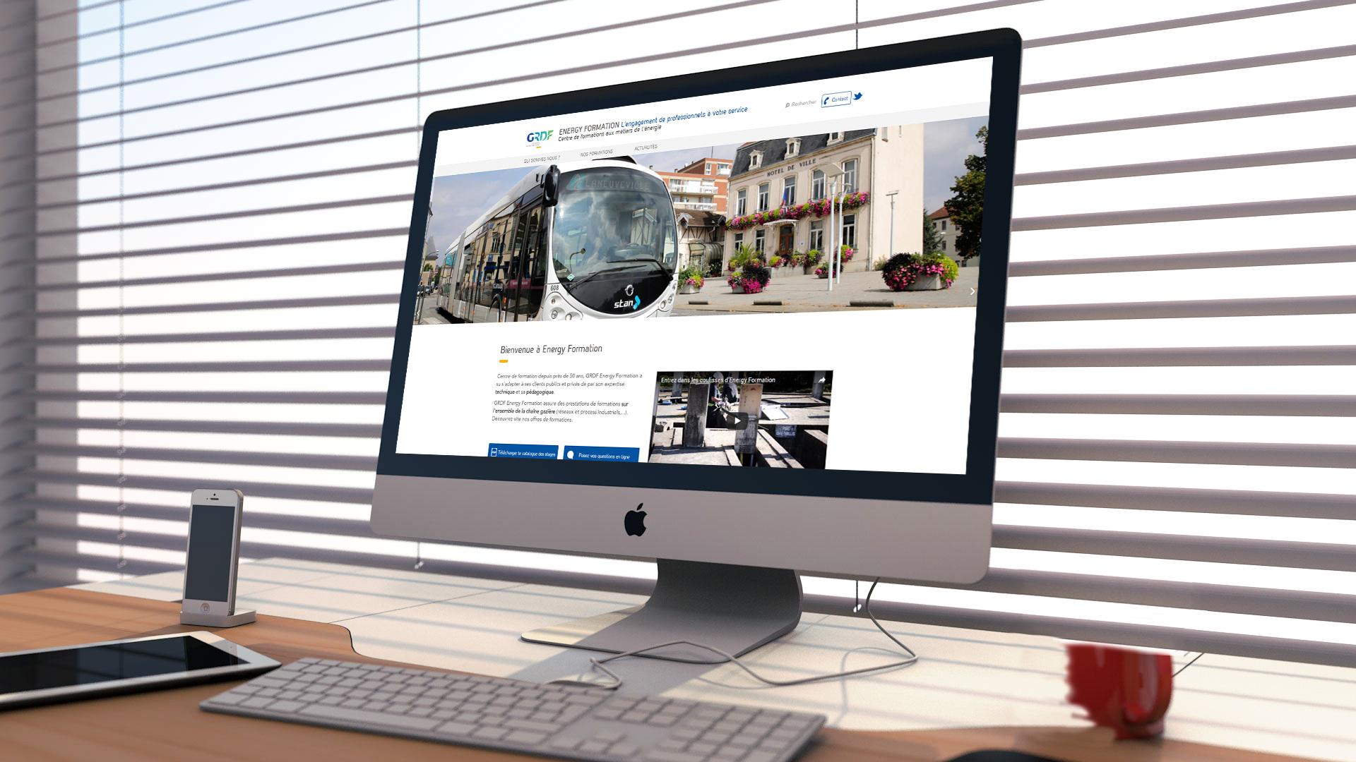 Vue site desktop
