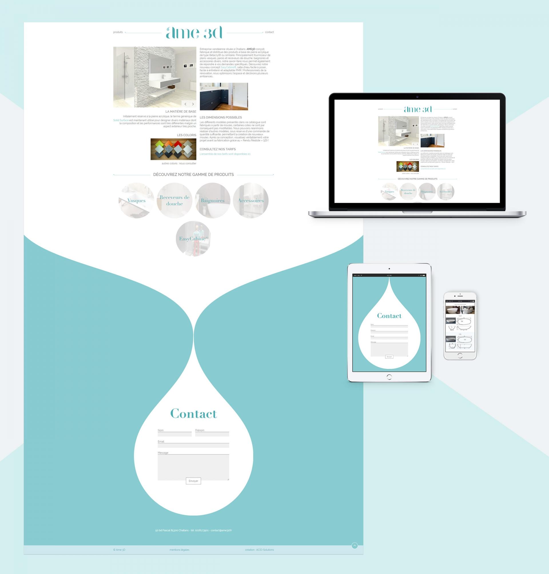 webdesign pour Ame 3D - Acid solutions