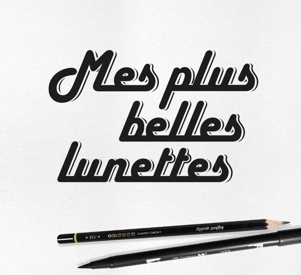 Identité branding logo Mes plus Belles Lunettes