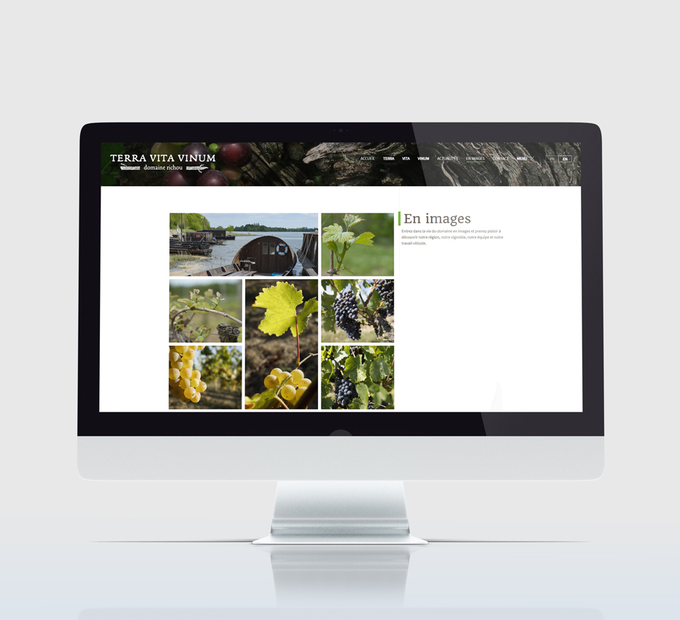 Vue desktop du site TVV
